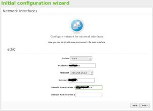 10 IP settings blanked