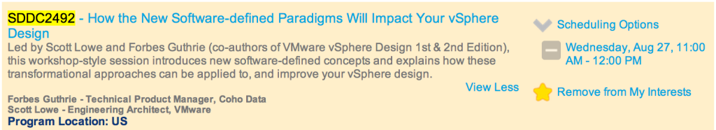 VMworld 2014 session details